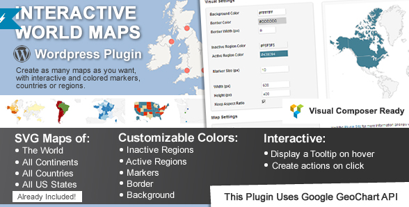 Wordpress Responsive Interactive Maps